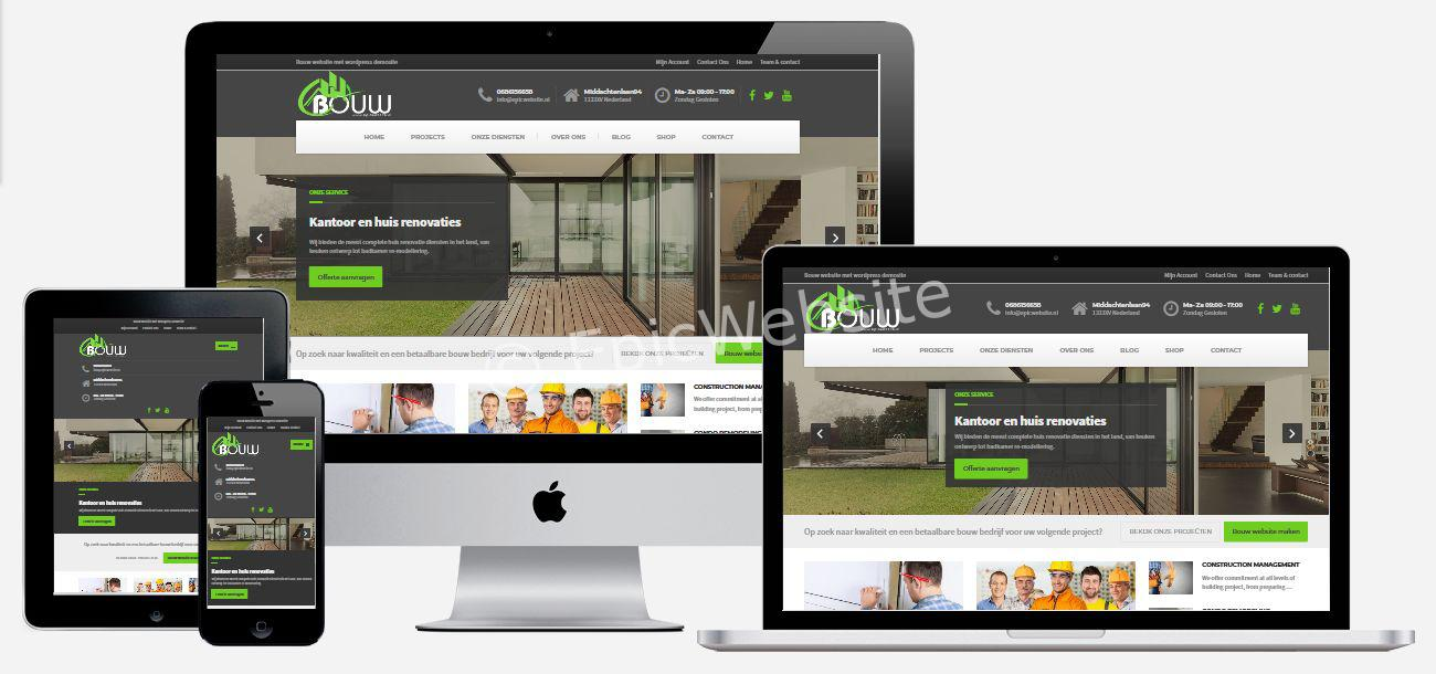 bouw website met wordpress