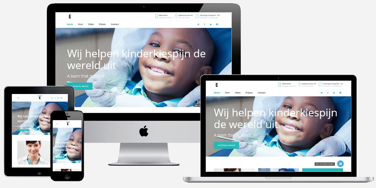 Website voor tandartspraktijk