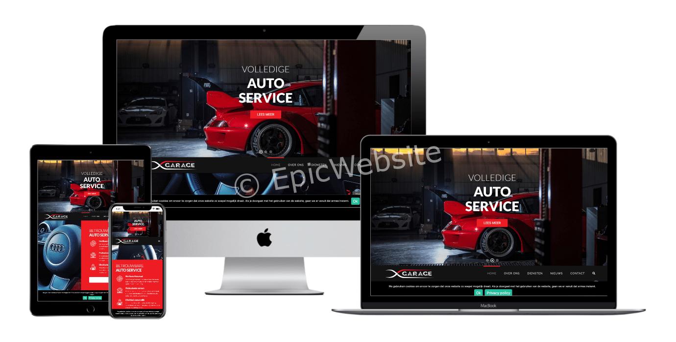 auto onderhoud website laten maken