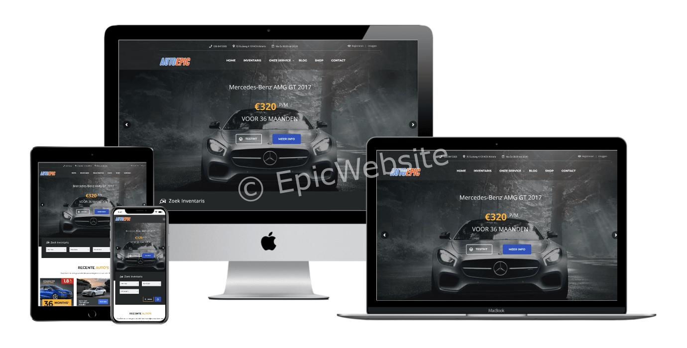 autobedrijf wordpress website laten maken 1