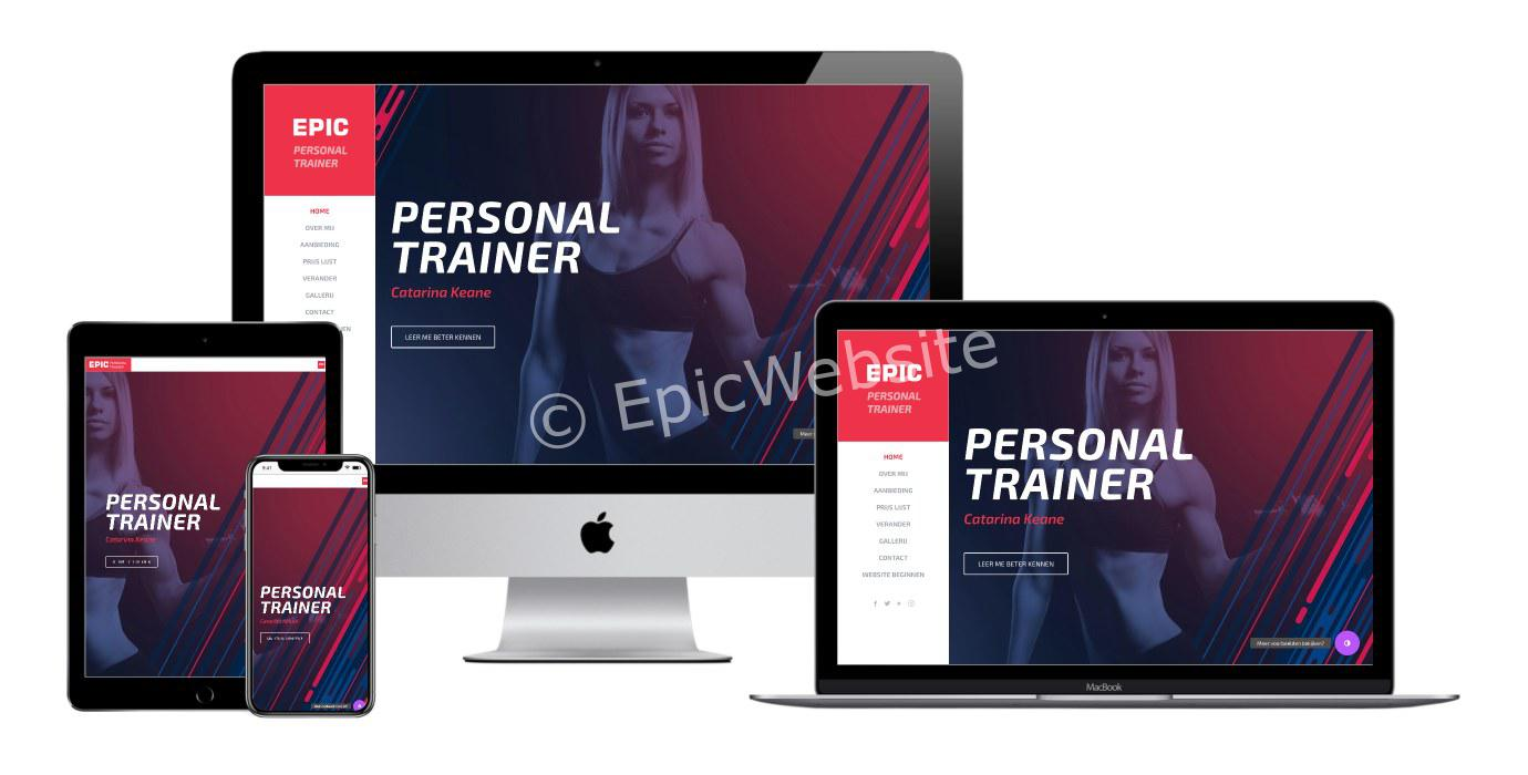personal trainer website maken 1