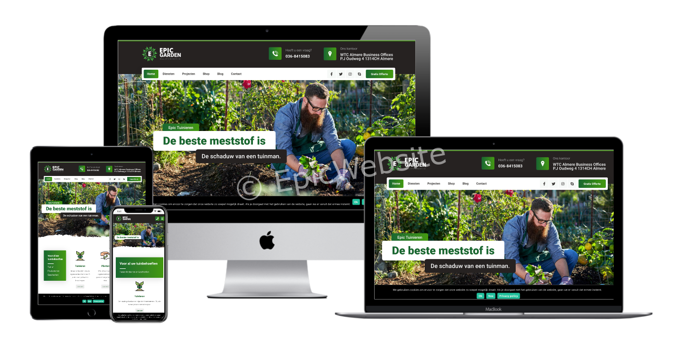 tuinverzorging website maken 1