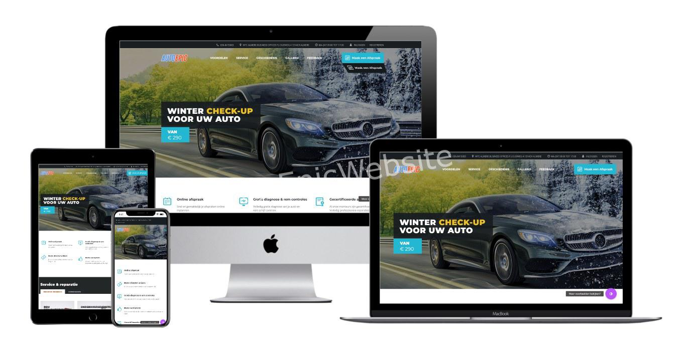 website autobedrijf bouwen 1