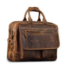 Boeken & kantoorbenodigdheden webshop laten maken product Leather Durable Briefcase